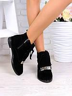 Ботинки замшевые черные Universe 6302-28