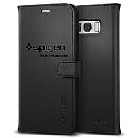 Книжка-Чехол Spigen для Samsung S8 Plus Wallet S, Black  , фото 1