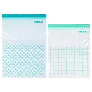 ИСТАД Пакет пластиковый для заморозки, светлая бирюза 80339281 IKEA, ИКЕА, ISTAD, фото 2
