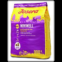 Josera Miniwell корм супер-премиум класса, для собак мелких пород до 10 кг. Упаковка0.9 кг