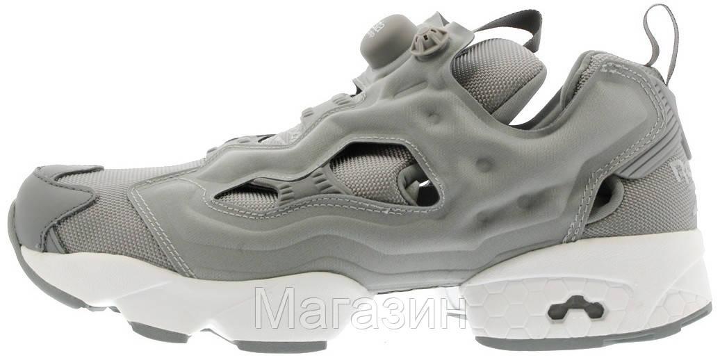 Женские кроссовки Reebok Instapump Fury Grey/White (в стиле Рибок Инста Памп) серые