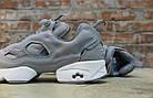 Женские кроссовки Reebok Instapump Fury Grey/White (в стиле Рибок Инста Памп) серые, фото 4