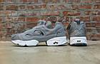 Женские кроссовки Reebok Instapump Fury Grey/White (в стиле Рибок Инста Памп) серые, фото 5