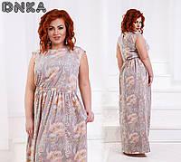 Летнее  женское платье с карманами в боковых швах 2 расцв.от 42до 56р.