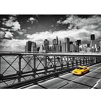 Фотообои на плотной полуглянцевой бумаге для стен 254 x 184 см. Такси в Бруклине. Komar 4-929