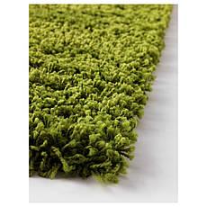 ХАМПЭН Ковер, длинный ворс, ярко-зеленый, 133x195 см 70203768 IKEA, ИКЕА, HAMPEN, фото 3