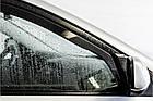 Дефлектори вікон вітровики на Пежо PEUGEOT 407 5D 2004-> 4шт Sedan, фото 2