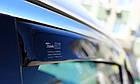 Дефлектори вікон вітровики на Пежо PEUGEOT 407 5D 2004-> 4шт Sedan, фото 4