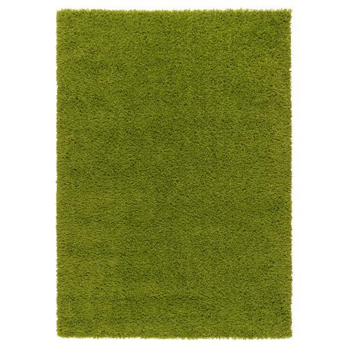 ХАМПЭН Ковер, длинный ворс, ярко-зеленый, 133x195 см 70203768 IKEA, ИКЕА, HAMPEN
