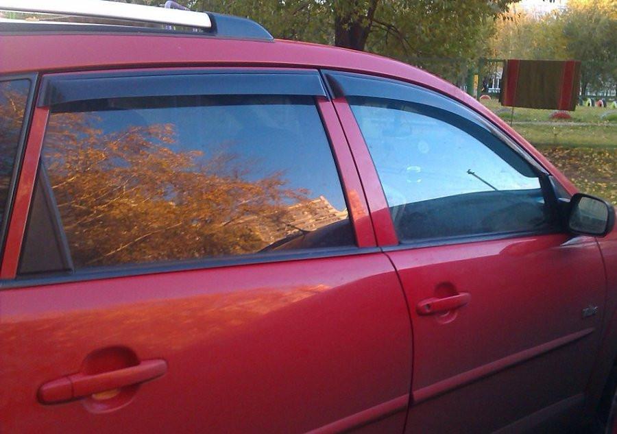 Дефлекторы окон ветровики на Pontiac Vibe II 2008 Toyota Matrix 2008