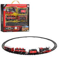ЖД PYC42 (24шт) локомотив 18см, вагон 3шт, звук, свет, на бат-ке, в кор-ке, 42,5-31-5,5см
