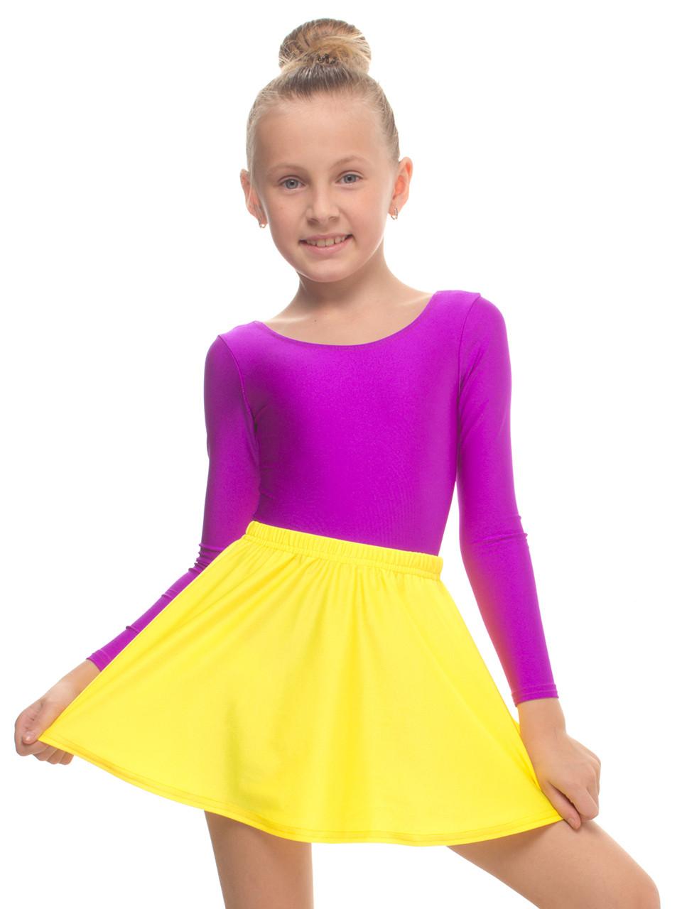 Спідниця для танців дитяча ЖОВТА