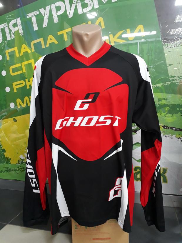 Велоджерси GHOST Jersey long длинный рукав XXL 2014 14373 черный / красный / белый