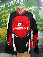 Велоджерсі GHOST DH / Enduro Jersey long довгий рукав XL 2014 14373 чорний/червоний/білий