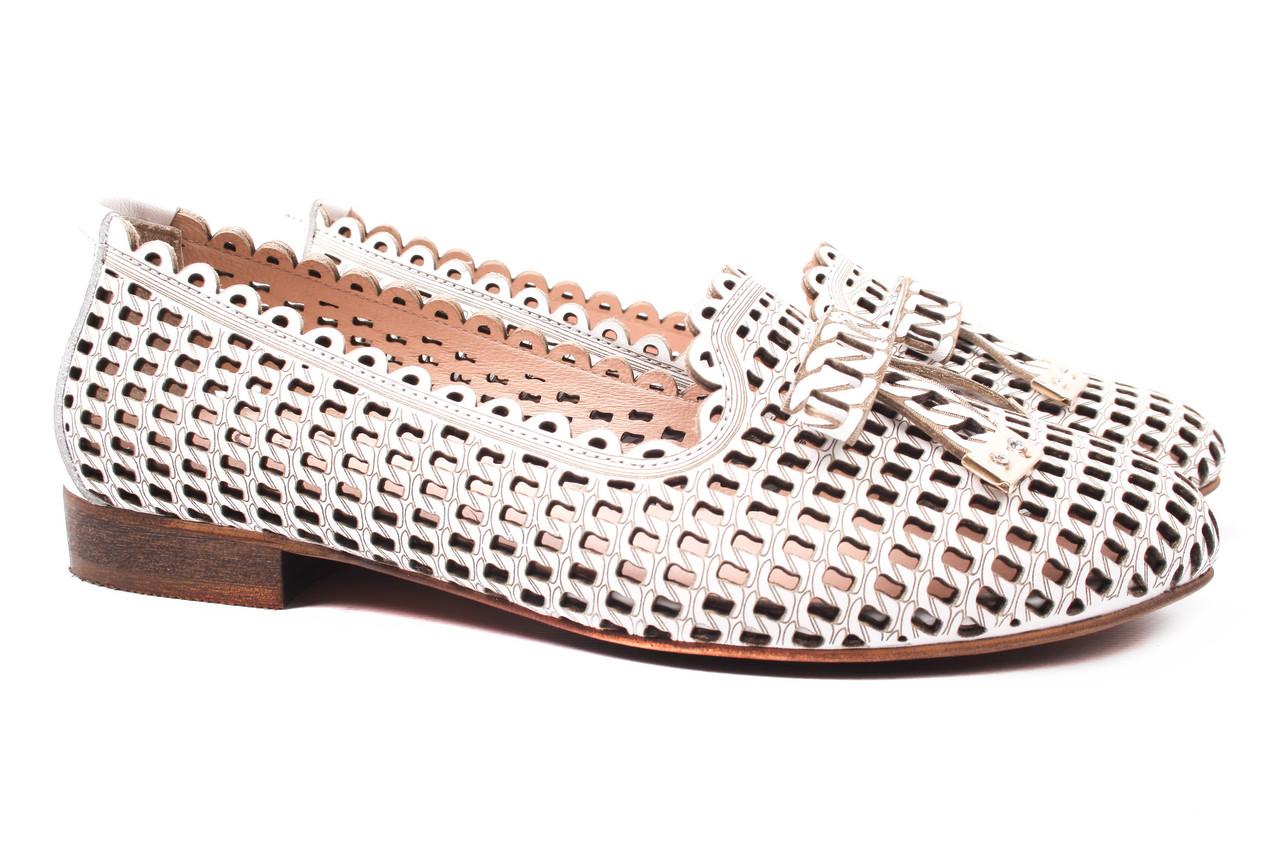 Туфли женские Aquamarin натуральная кожа, цвет белый (каблук, стильные, комфорт, лето, Турция)