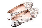 Туфли женские Aquamarin натуральная кожа, цвет белый (каблук, стильные, комфорт, лето, Турция), фото 5