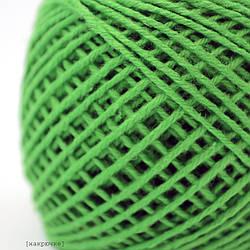 Пряжа хлопковая Ярослав, цвет 80 зеленый