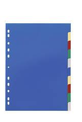 Разделители цветные 1-10 А4 пластиковые  DURABLE 6740 27
