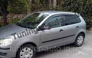 Ветровики, дефлекторы окон Volkswagen Polo 2001-2009 (Hic)