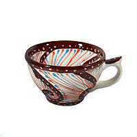 Чашка керамическая 100% ручная работа 0,5 л (53)