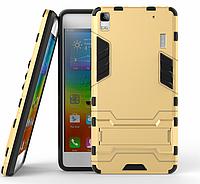 Чехол Противоударный Lenovo A7000 / K3 Note / k50 Броня Gold, фото 1