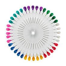 Шпильки на диску, 40шт, кольорова крапля