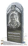 Памятник гранитный одинарный с иконой