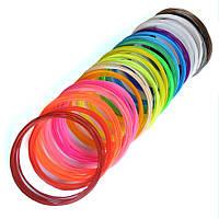 Набор ПЛА PLA пластика для 3D ручки 16 цветов на 160 метров