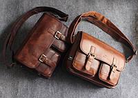 Мужская кожаная сумка. Модель 63239, фото 6