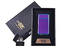 USB зажигалка Хамелеон в подарочной упаковке ZHONG RUI (Двухсторонняя спираль накаливания)