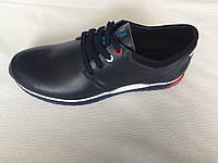 Мужские туфли из натуральной кожи А 38 синие