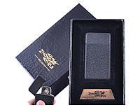 USB зажигалка Гранит в подарочной упаковке ZHONG RUI (Двухсторонняя спираль накаливания)