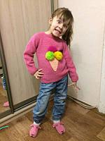 @Аня Цимбалистая Девочки, не судите строго, это мой первый в жизни реглан, связано для средней дочки, теперь нужно меньшую приодеть ))) Ниточка Alize sekerim bebe .