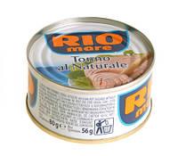 Тунец в собственном соку Rio Mare Tonno Al Naturale, 80 гр., фото 1