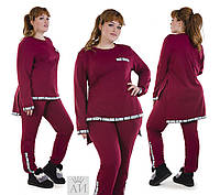 Костюм двойка большого размера ,Цвет: черный,марсала, хаки и джинс Ткань: двухнитка супер качество аи№108-580