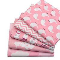 Набор тканей (Ткань) Розовые оттенки для Пэчворка 40x50 см 5 шт, фото 1