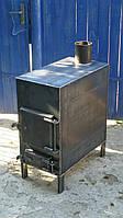 Печь большая, металл 3 - 4 мм, для отопления и приготовления пищи / ручная работа