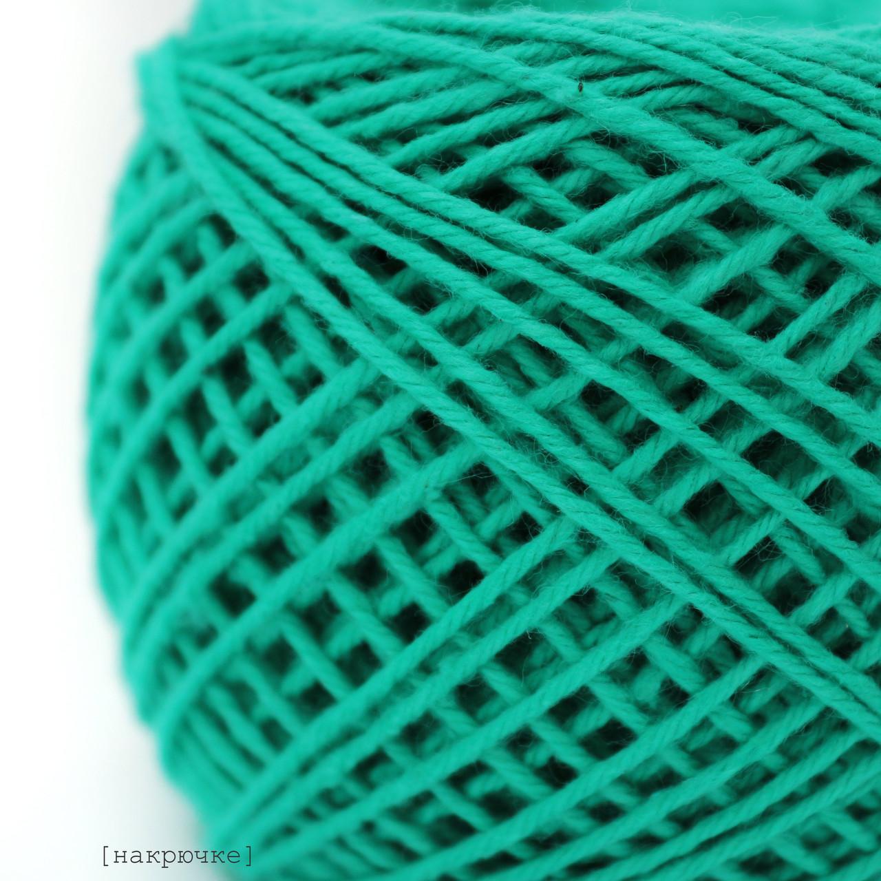 Хлопковая пряжа Ярослав, цвет 284 морская волна