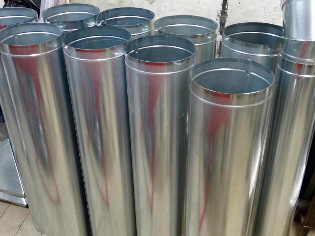 Повітропроводи круглого перерізу з оцинкованої сталі, товщина стали 0.7 мм