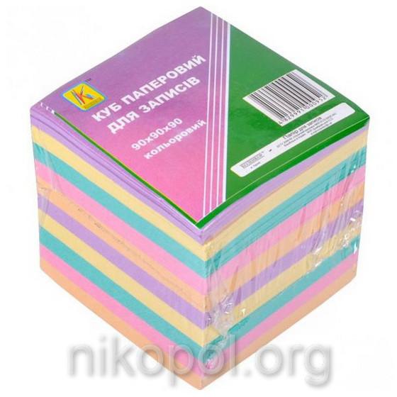 Бумага для заметок 900 листов, блок 90x90x90мм, цветная