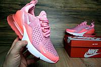 Женские кроссовки Найк Air Max 270 Pink Реплика