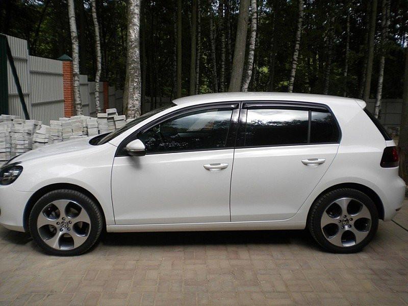Дефлектори вікон вітровики на VOLKSWAGEN Фольксваген VW GOLF VI 2009-