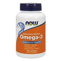 Витамины и Минералы NOW Omega-3 (100 softgels)