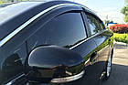 Дефлекторы окон ветровики на VOLKSWAGEN Фольксваген VW Passat B6 B7 2005-2015 Sedan С Хром молдингом, фото 2