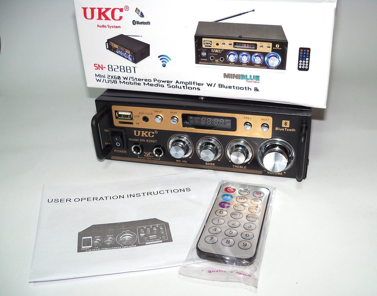 Усилитель AMP AV 828 BT, усилитель мощности звука