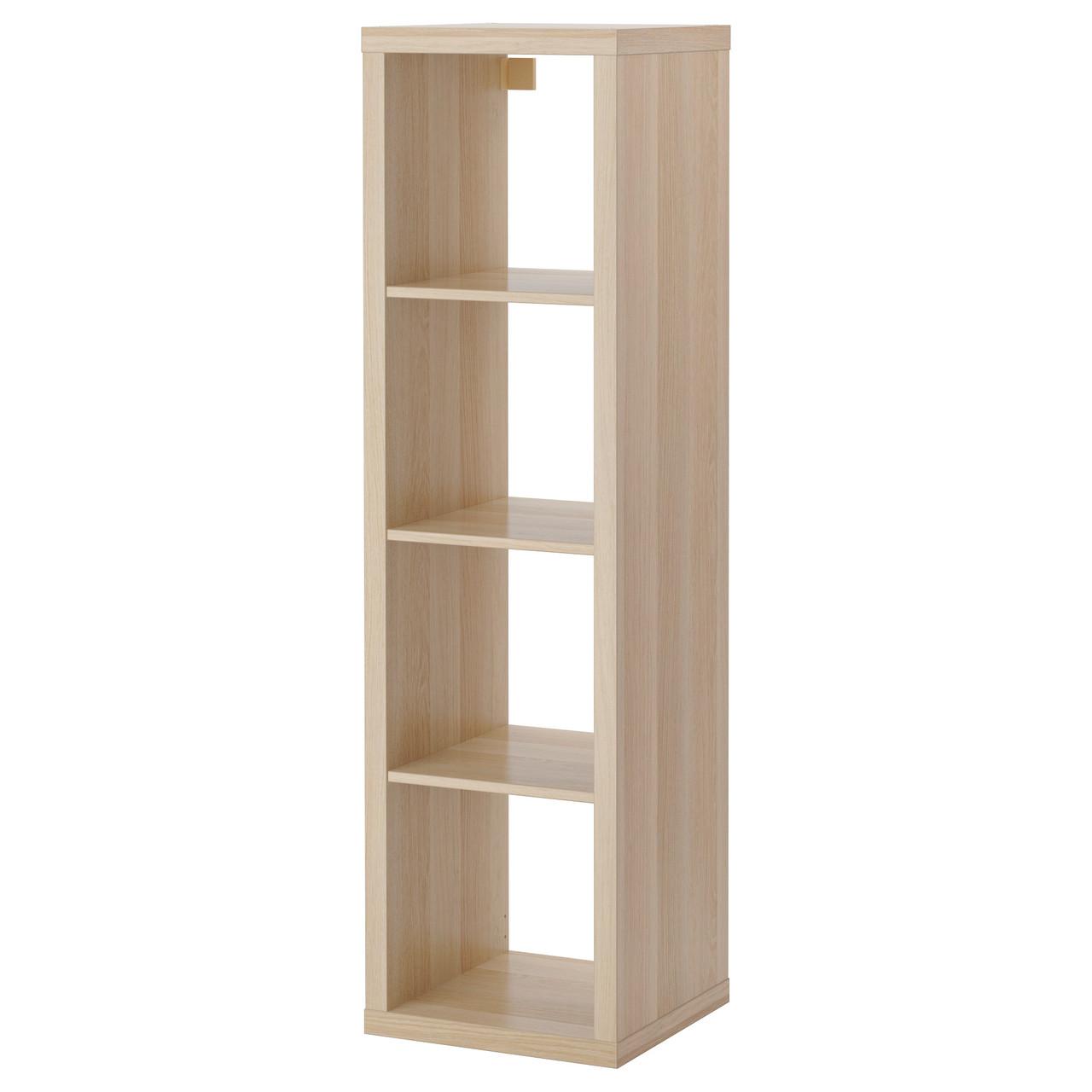 КАЛЛАКС Стеллаж, под беленый дуб, 42x147 см 40324516 IKEA, ИКЕА, KALLAX