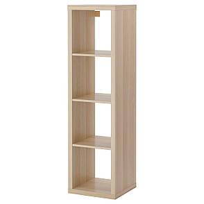 КАЛЛАКС Стеллаж, под беленый дуб, 42x147 см 40324516 IKEA, ИКЕА, KALLAX, фото 2
