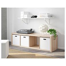 КАЛЛАКС Стеллаж, под беленый дуб, 42x147 см 40324516 IKEA, ИКЕА, KALLAX, фото 3