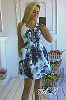 Платье сарафан бретельки регулируются с цветочным принтом