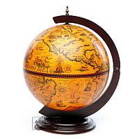 Глобус бар настольный коричневый Увидеть Мир 420мм